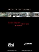 OTOMATİK KAPI SİSTEMLERİ bütün kapıları - MassPro