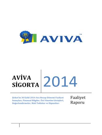 30 Eylül 2014 Yönetim Kurulu Faaliyet Raporu