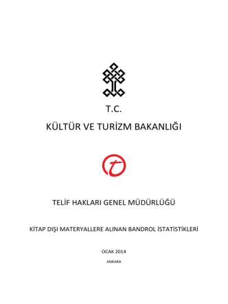 2013-2012 Yılları için Kitap Dışı Materyallere Alınan Bandrol