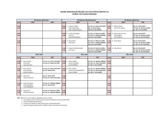 2013-2014 eğitim öğretim yılı bitirme tezi sunum programı