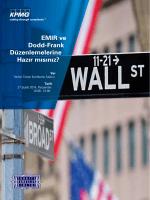 EMIR ve Dodd-Frank Düzenlemelerine Hazır mısınız?