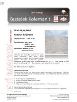 Kestelek Kolemanit - Eti Maden İşletmeleri