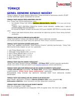 TÜRKÇE - Uluslararası Türkçe Testi