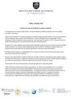 Press Release - ESK IB Diploma Results