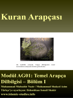 Kuran Arapçası - WordPress.com