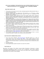 2014-2015 Güz Kurum İçi Yatay Geçiş Başvuru Koşulları