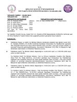25/09/2013 Tıp Fakültesi Yönetim Kurulu Kararı