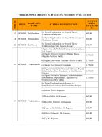 Döner Sermaye Hizmetleri 2015 Birim Fiyatlarını görmek için tıklayınız.