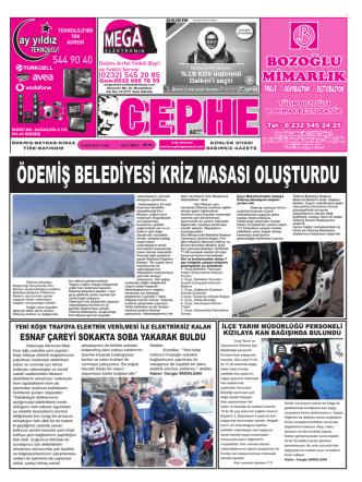 09.01.2015 Tarihli Cephe Gazetesi