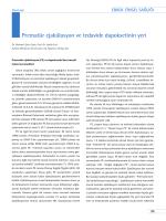 Prematür ejakülasyon ve tedavide dapoksetinin yeri