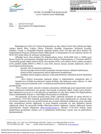 00124559 - Çevre ve Şehircilik Bakanlığı