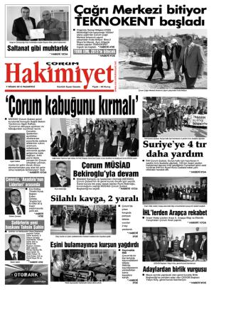 7 nisan.qxd - Çorum Hakimiyet Gazetesi