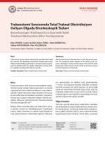 Trakeostomi Sonrasında Total Trakeal Obstrüksiyon