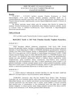 Mart Faaliyet Raporu - Rize Ticaret ve Sanayi Odası