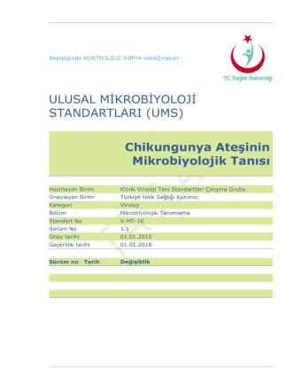 Chikungunya ateşi - Türkiye Halk Sağlığı Kurumu