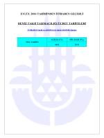eylül 2014 tarihinden itibaren geçerli deniz taksi taşımacılığı ücret