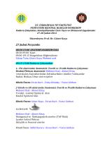 Çalışma Programı - İ.Ü. Cerrahpaşa Tıp Fakültesi