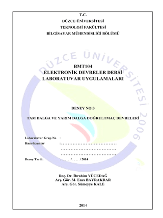 BMT104_03_Deney_3 - Düzce Üniversitesi Bilgisayar Mühendisliği
