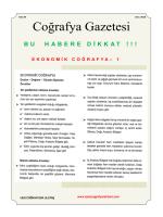 Coğrafya Gazetesi - Kpss Coğrafya Rehberi