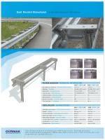 Basit Mesafeli Otokorkuluk /Single Sided Guardrail With Spacer