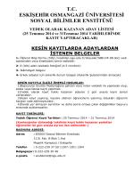 tc eskişehir osmangazi üniversitesi sosyal bilimler enstitüsü