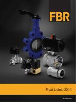 Fiyat Listesi İndir - FBR | Vana ve Akış Kontrol Sistemleri