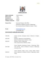 M. Kanbay, MD, FERA, Curriculum Vitae Present Title