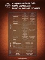 mimar sinan camii ramazan ayı vaaz programı