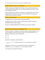 KORELASYON Katsayısı ve Test işlemleri
