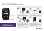 Accu-Chek Aviva Connect. Bağlantı kurabilen kan şekeri ölçüm aleti.