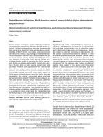 Santral kornea kalınlığının klinik önemi ve santral kornea kalınlığı