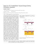 Solar Sıvı PV-T Kolektörlerin