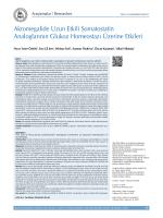 Akromegalide Uzun Etkili Somatostatin Analoglarının Glukoz