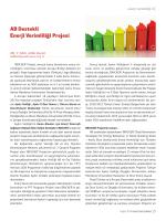 AB Destekli Enerji Verimliliği Projesi