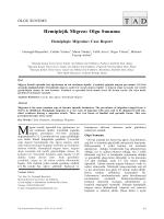 Hemiplejik Migren: Olgu Sunumu