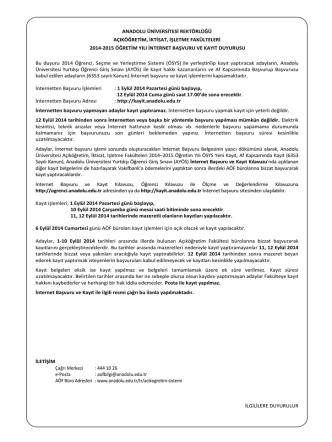 anadolu üniversitesi rektörlüğü açıköğretim, iktisat, işletme