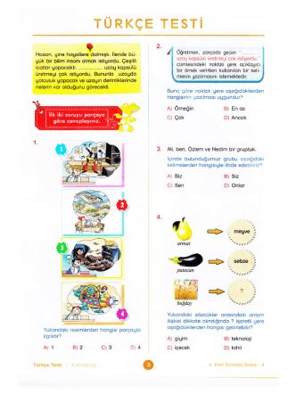 4. sınıf örnek sorular - TOROS KAYNAK KOLEJİ ...... Serik