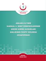 Ankara İlinde İlkokul 1. Sınıf Öğrencilerinde Gözde Kırma Kusurları