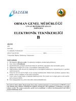 Elektronik Teknikerliği B