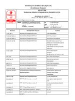 BELGETÜRK, TÜRKAK tarafından ISO 17024 standardına göre