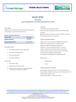 BLUE SPEC BC-191 Alkali İçermeyen Sıvı