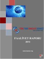 FAALİYET RAPORU - Tıbbi Onkoloji Derneği