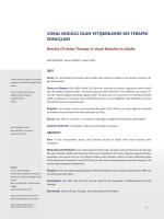 vokal nodülü olan yetişkinlerde ses terapisi