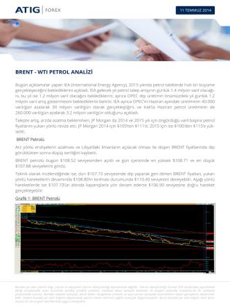 brent - wtı petrol analizi