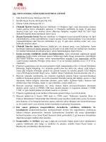 EK: TR51/14/SOSKA SÖZLEŞME KONTROL LİSTESİ 1. Mali Kimlik