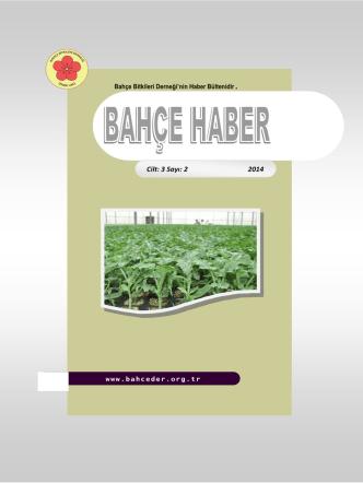 Cilt: 3 Sayı: 2 2014 - Bahçe Bitkileri Derneği