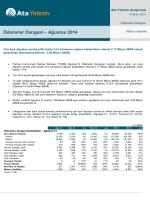 Ödemeler Dengesi – Ağustos 2014