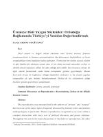 Üremeye Dair YaygÕn Söylemler - Ankara Üniversitesi Dergiler