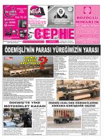 17.11.2014 Tarihli Cephe Gazetesi
