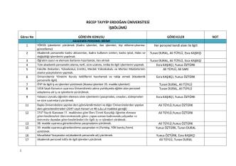 10-Personel Görev Bölümü - Personel Daire Başkanlığı